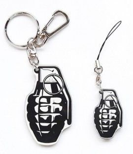 "THREE TIDES "" Grenade"" Key Ring & Strap"