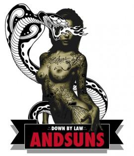 ANDSUNS / 09 SS : ARTIST TEE / THREE TIDES : MUTSUO