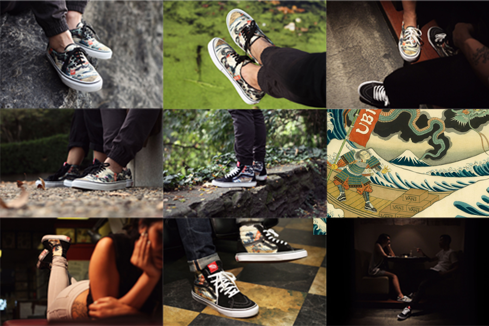 "808c1a2fb8a2e7 ... UBIQ X VANS VAULT – HOLIDAY 2013 ""THREE TIDES TATTOO"" COLLECTION DESIGN  BY HIROSHI HIRAKAWA. UBIQ VANS TTT UBIQ VANS TTT5 プリント"