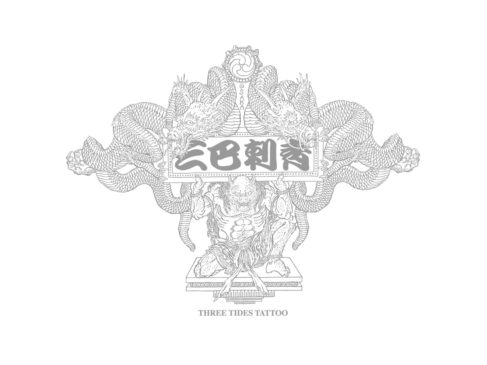 Wallpaper 壁紙 三巴彫 スリータイズ タトゥー Three Tides Tattoo 三巴刺青 大阪 東京